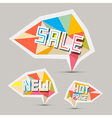 Sale paper retro labels set vector
