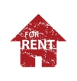 Red grunge for rent logo vector