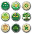 St. patrick's day bottle caps vector