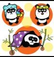 Set of cute pandas vector