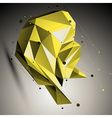 Colorful spatial technological shape polygonal vector