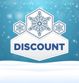 Beautiful plate with snowflakes and inscription vector