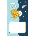 Sun and moon cartoon vector