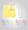 Colofrul paper clips vector