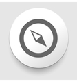 Compass icon navigation vector