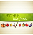 Restaurant menu design with fruit and vegetables vector