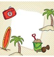 Beach vacations travel vector