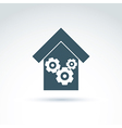 Gears and cogs system theme icon factory vector