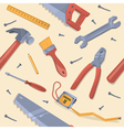 Seamless pattern with different tools vector