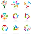 Collection of social media icons vector