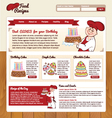 Food recipes template vector
