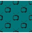 Retro tv web icon flat design seamless gray vector