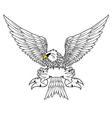 Fury spread winged eagle tattoo vector