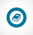 Book bold blue border circle icon vector
