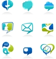 Social media and speech icons vector