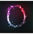 Alphabet neon letter vector
