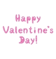 Lettering holiday happy valentines day vector