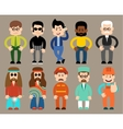 Set of flat men different professions vector