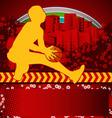 Slamball grunge background vector