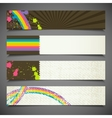 Set of abstract colorful retro banners vector