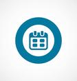 Calendar bold blue border circle icon vector