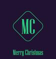 Christmas minimalistic festive card monograms vector