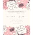 Wedding invitation floral card vector