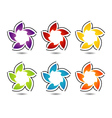 Set of colorful flower logos vector