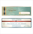 Voucher template vector