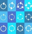 Rotating circle arrows vector