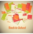 Vintage back to school design vector