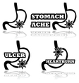 Stomach problems vector
