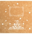 Card round oriental pattern on vintage vector