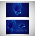 Set of business cards with bubbles vector