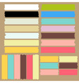 Color masking tape set vector