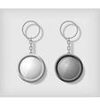 Two key chain pendants mockup vector