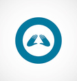Massage bold blue border circle icon vector