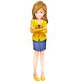 A businesswoman standing vector