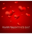Happy valentines day holiday background with red vector