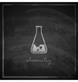 Vintage with laboratory equipment icon on vector