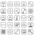 Network web icons vector