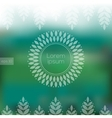 Eco design with blurry background and floral frame vector