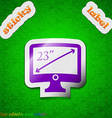 Diagonal of the monitor 23 inches icon sign symbol vector
