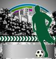 Soccer grunge background vector