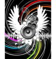 Wings of music vector