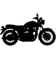 Classic motorbike silhouette vector