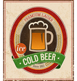 Cold beer color vector