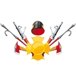Fire-fighting equipment emblem vector