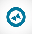 Speaker bold blue border circle icon vector