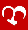 Couple love heart vector